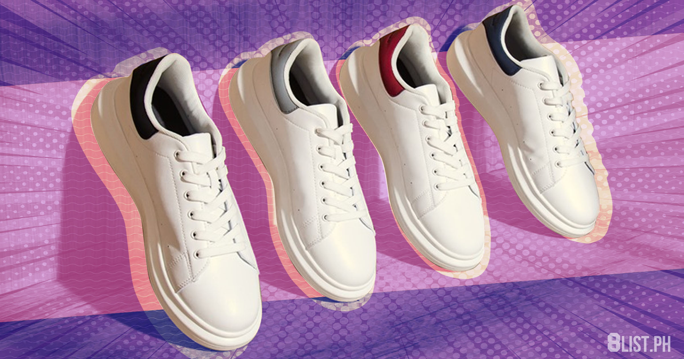Stylish White Sneakers Under Php 3,000