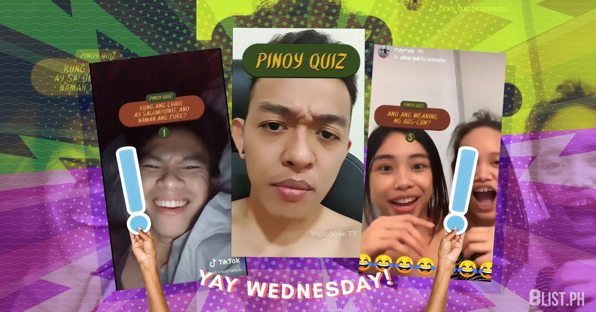 Yay Wednesday The Best Answers To The Pinoy Quiz Challenge That S Taking Over Instagram 8list Ph