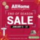 January 2021 Sale AllHome
